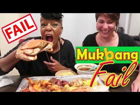 Our First Seafood MUKBANG FAIL Using  Blove's Delicious Sauce