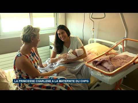 Princess Charlene visits Maternity Service at Princess Grace Hospital