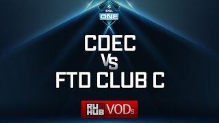 CDEC vs FTD Club C, ESL One Genting Quals, game 1 [Lex, 4ce]