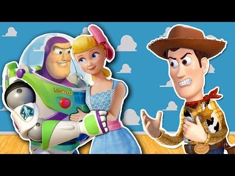 Videos de amor -  Buzz le ROBA el AMOR de Betty a WOODY  Toy Story 4 Juguetes Fantasticos