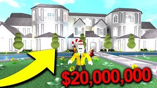 THIS BLOXBURG MANSION COST $20,000,000..