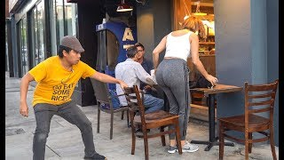 Chair Pulling Prank in West Hollywood!!!
