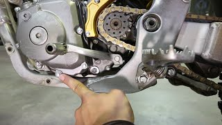 10. How to change oil on 4 stroke dirt bike, Suzuki RMZ 450 - Part 2
