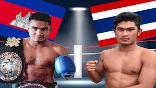 Meun Sophea vs Rebol(thai), Khmer Boxing Bayon 26 May 2017, Kun Khmer vs Muay Thai