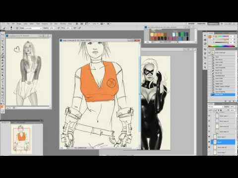 idrawgirls - http://idrawgirls.com/tutorials/2012/07/27/photoshop-painting-tips-5-ways-to-find-darker-color-or-shadow/ for step by step and brushes download. Photoshop pa...