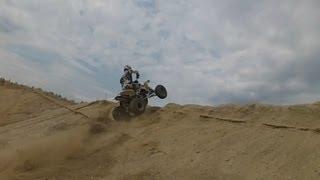 5. Suzuki LTR 450 having fun in sand pit