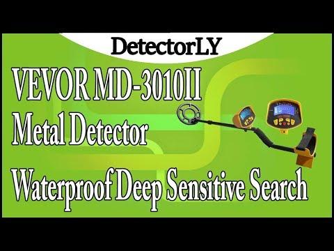 VEVOR MD-3010II Metal Detector Waterproof Deep Sensitive Search Review