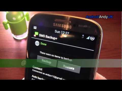 Video of SMS Backup +
