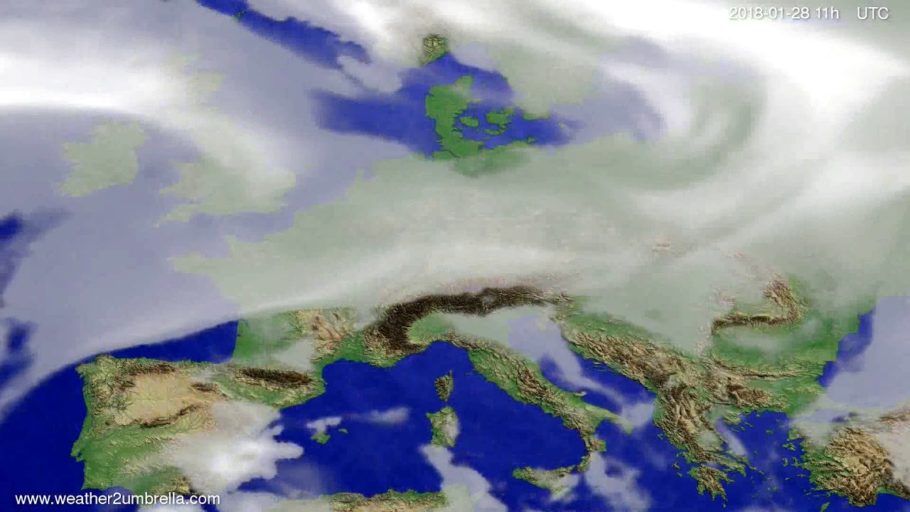 Cloud forecast Europe 2018-01-25