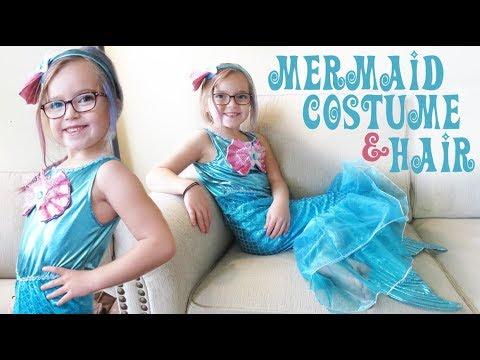 Mermaid Halloween Costume and Hair Color Mascara!