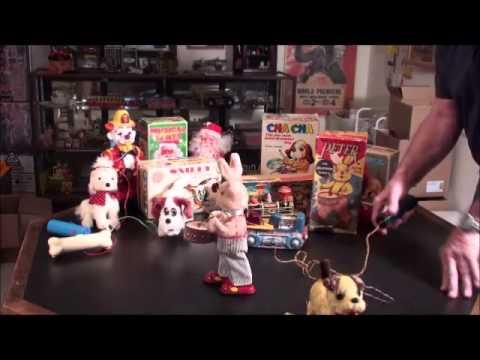 antique Toys 1950's - A brief overview of Battery Operated Toys and their Values, from the 1950s to the 1970s.