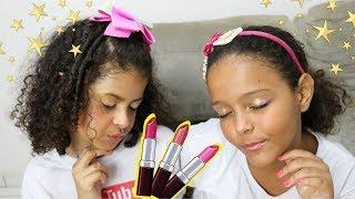 Sossô e Julia em Tutorial de Maquiagem