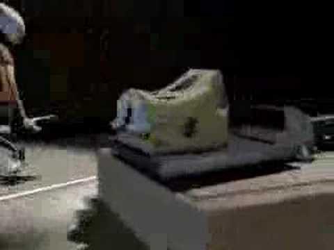 Rat singing to cheese