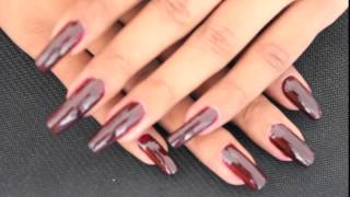 Dark Red Long Nails Nailslong Com Model Beyonceesha
