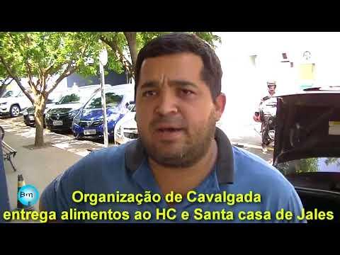 Jales - Organização da Cavalgada, entrega alimentos ao Hospital de Câncer e Santa Casa de Jales.