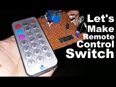 Let's Make Remote Control ON/OFF Switch Making | Control Fan And Light Using Tv Remote