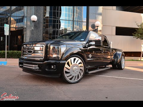 Dropped and deleted 2014 F350 Dually on 26 inch Forgiato wheels!