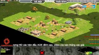 Hà Nội + Xi Măng vs Thái Bình  C1T3, Ngày 31/07/2015, game đế chế, clip aoe, chim sẻ đi nắng, aoe 2015