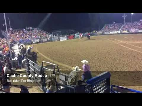 Honeyville cowboy Tim Bingham rides Picacho to a 67 score on the first night of the Cache County Rod