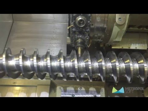 EDGECAM 4 AXIS MILLTURN (видео)