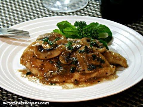 Giada De Laurentiis Chicken With Mustard Mascarpone Marsala Sauce