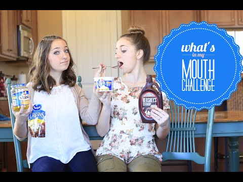 """What's in My Mouth"" Challenge 