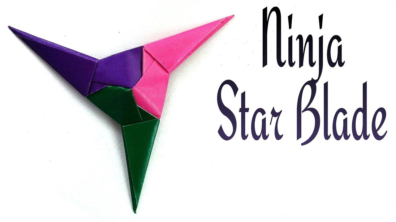 Action Modular Origami Tutorial Paper Ninja Star Blade Shuriken 3 Pointed