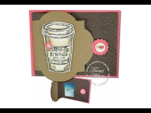 Perfect Blend Starbucks Gift Card Holder featuring Stampin Up