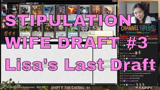 """Well, it's is a matter of days before I officially begin working as a member of the Play Design team for Wizards of the Coast. It has been a tremendous journey and by popular demand, I had no choice but to have one of my last drafts be a Lisa Draft. Her record in cube drafts is completely absurd and she doesn't even play the game! Hope you enjoy my wife randomly picking cards to victory!- Go to https://www.ChannelFireball.com for all your MTG needs! Put in Coupon Code: HAUMPH to get 5% off your current purchase!Empty the Cheons tokens are also available and simply put in: HAUMPH under the comments sections to get some Empty the Cheons tokens!- Customize your very own playmat at Inkedgaming.com! Your game, your style, use coupon code """"Haumph"""" to receive 12% off your purchase! - https://www.inkedgaming.com/- Buy, sell, and even rent cards on MTGO through Manatraders! Rent all the cards you want for one low monthly price and use COUPON CODE: HaumpHTwitch to get 20% off your first monthly subscription! - https://www.manatraders.com/?medium=H...Don't forget to hit that Like button and Subscribe!Stream: https://www.twitch.tv/haumphTwitter: https://twitter.com/haumphEmail: magichaumph@gmail.comFacebook: https://www.facebook.com/paul.cheon.7"""