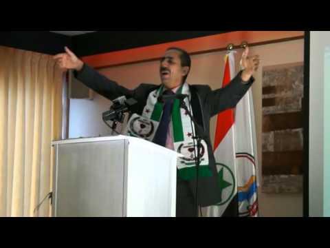 ربيع الشعار يلقي كلمة تنسيقية الثورة السورية في بلجيكا - مؤتمر لاهاي