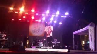 Fateh Doe performing 22Da & Inch at Vibrant Brampton 2016 in Garden Square, Downtown Brampton