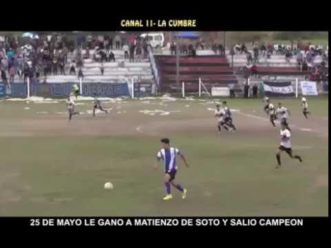 EXPULSARON VARIOS JUGADORES: VIDEO CON LOS GOLES DE 25 CONTRA MATIENZO - LIGA DE PUNILLA