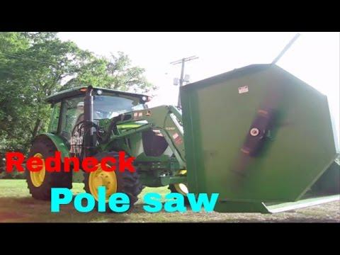 Bucket mounted bushog (видео)