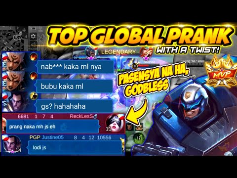 TOP GLOBAL PRANK!! WITH A TWIST! | LAPTRIP TO!| JOHNSON INSANE PREDICTION LEADS TO VICTORY! | MLBB