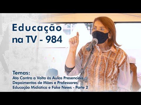 Ato Contra a Volta às Aulas Presenciais | Depoimentos de Mães e Professores | Educação Midiática e Fake News - Parte 2