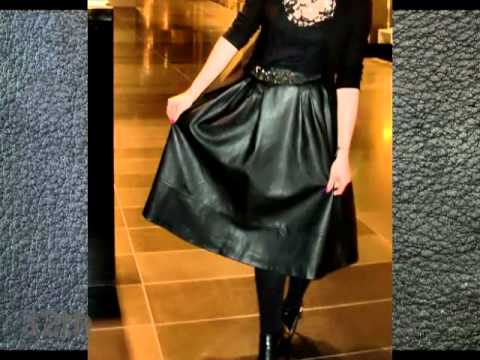 My top 60 beautiful leather skirt & dress