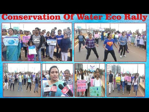 Conservation Of Water Eco Rally at Beach Road by Vignan's Women Engineering College in Visakhapatnam,Vizagvision...