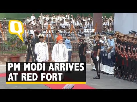 Prime Minister Narendra Modi Arrives At Red Fort, For Independence Day Address