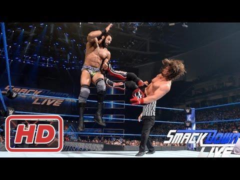 AJ Styles vs Jinder Mahal Full Match   Smackdown live 16 May 2017 【HD】