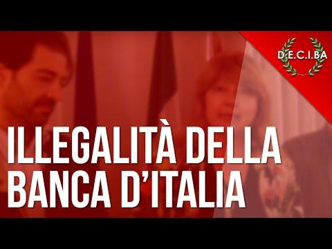 la banca d'italia è illegale: ecco le prove!