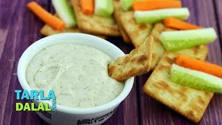 Cheesy Pepper Dip,Recipe Link : https://www.tarladalal.com/Cheesy-Pepper-Dip-5002rSubscribe : http://goo.gl/omhUioTarla Dalal App: http://www.tarladalal.com/free-recipe-app.aspxFacebook: http://www.facebook.com/pages/TarlaDalal/207464147348YouTube Channel: http://www.youtube.com/user/TarlaDalalsKitchen/featuredPinterest: http://www.pinterest.com/tarladalal/Google Plus:  https://plus.google.com/107883620848727803776Twitter: https://twitter.com/Tarla_DalalCheesy Pepper DipWhen you need a dip in a jiffy, look no further! A simple mix-and-serve job, the Cheesy Pepper Dip is a great combo for cream crackers and vegetable strips and is sure to be liked by all. Kids will love the cheesy feel, while adults will enjoy the peppery tinge.Preparation Time: 2 minutes.Cooking Time: Nil.Makes 1 cup.1 cup cheese spread1 tsp freshly ground black pepper (kalimirch) powder2 tbsp fresh curds (dahi)Salt to tasteFor servingCream cracker biscuitsCucumber stripsCarrot strips1. Combine the cheese spread and curds and blend in a mixer till smooth.2. Transfer the mixture into a bowl, add the salt and pepper, mix well and refrigerate for at least 1 hour.     Serve chilled with cream crackers, cucumber strips and carrot strips.