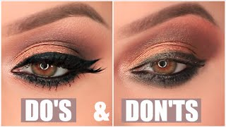 EYESHADOW DO's & DON'Ts - YouTube