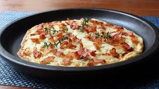 Tarte Flambée - Alsatian Bacon & Onion Tart - How to Make Tarte Flambée by Food Wishes