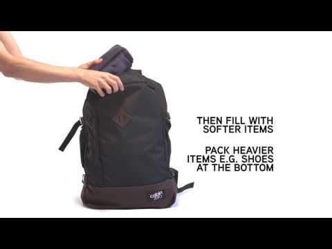 Відео огляд сумки-рюкзак CabinZero Classic 44L Navy