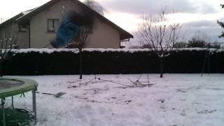 trampoline snow