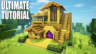 """Minecraft Tutorial: How To Make A Ultimate Wooden Survival Base 3 """"2020 Tutorial"""""""