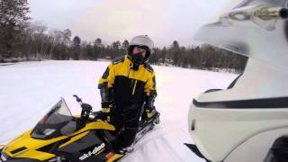 10. Skidoo and Arctic cat rippin on the lake