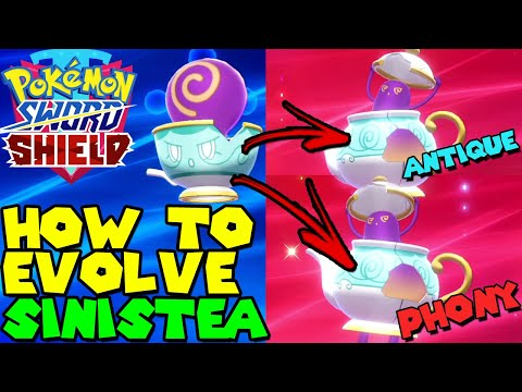 How to evolve SINISTEA in POLTEAGEIST in Pokemon Sword & Shield