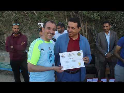 امبارك حمية يعطي انطلاقة دوري رمضان لكرة القدم المصغرة بمركز التاهيل البحري الداخلة
