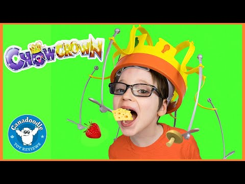 Chow Crown Challenge with Canadoodle Toy Reviews! Hasbro game for kids
